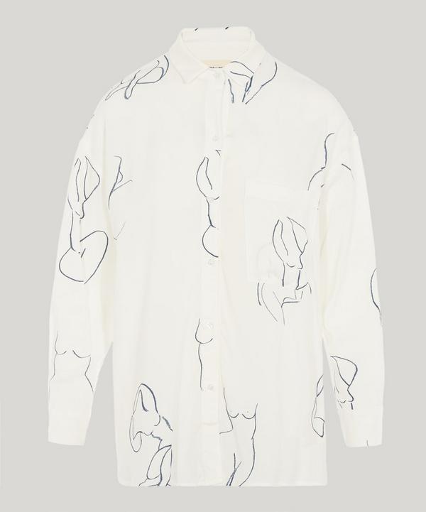 Leandra Nude Figure Print Shirt