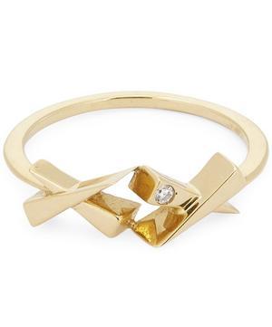 Gold Kisses Diamond Ring