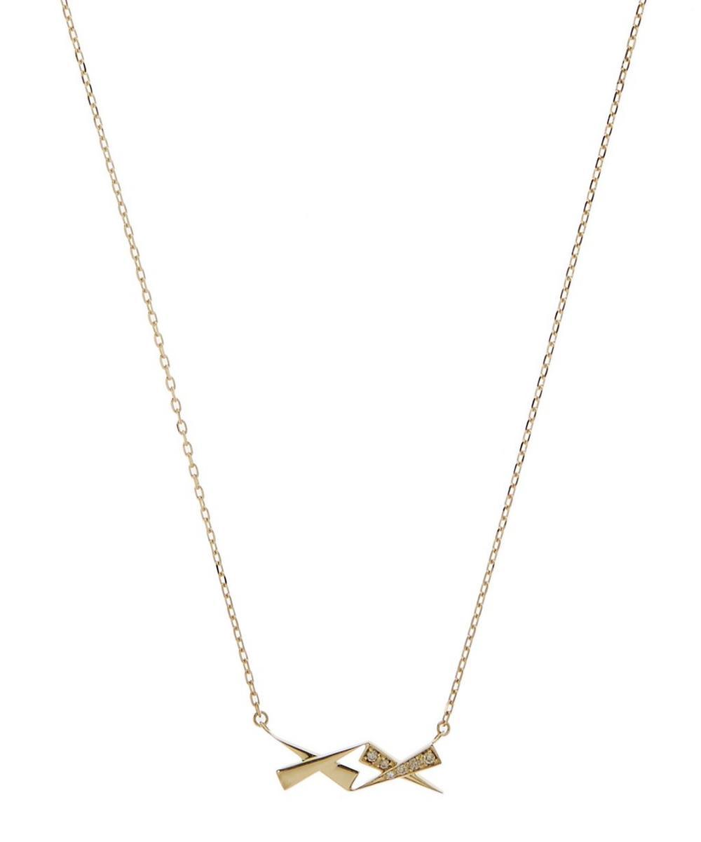 DAOU Gold Kisses Diamond Pendant Necklace