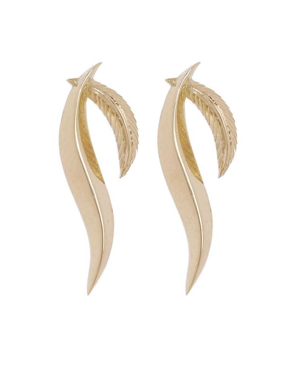 DAOU Gold Feather Earrings