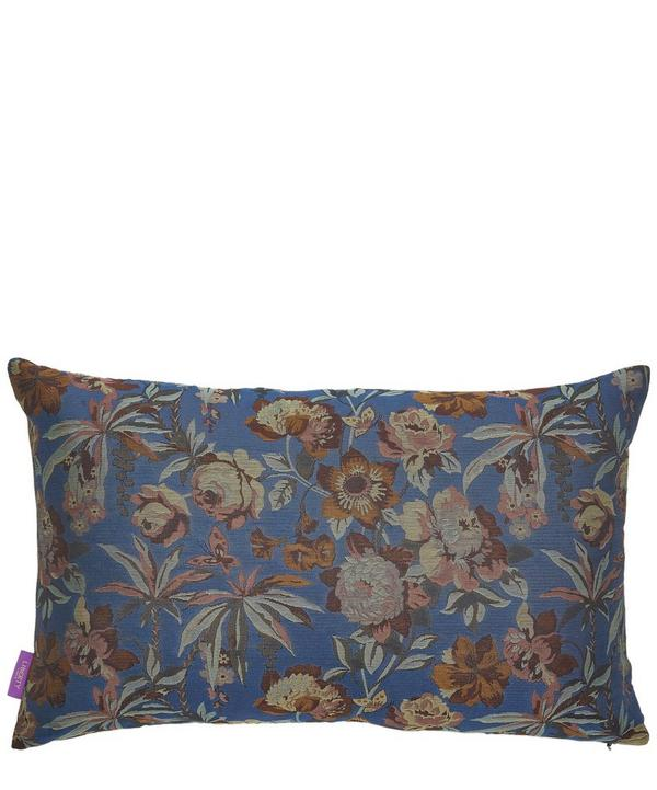 Layla Silk Jacquard Oblong Cushion