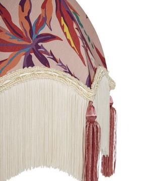 Layla 12-Inch Tasselled and Fringed Silk-Linen Lampshade