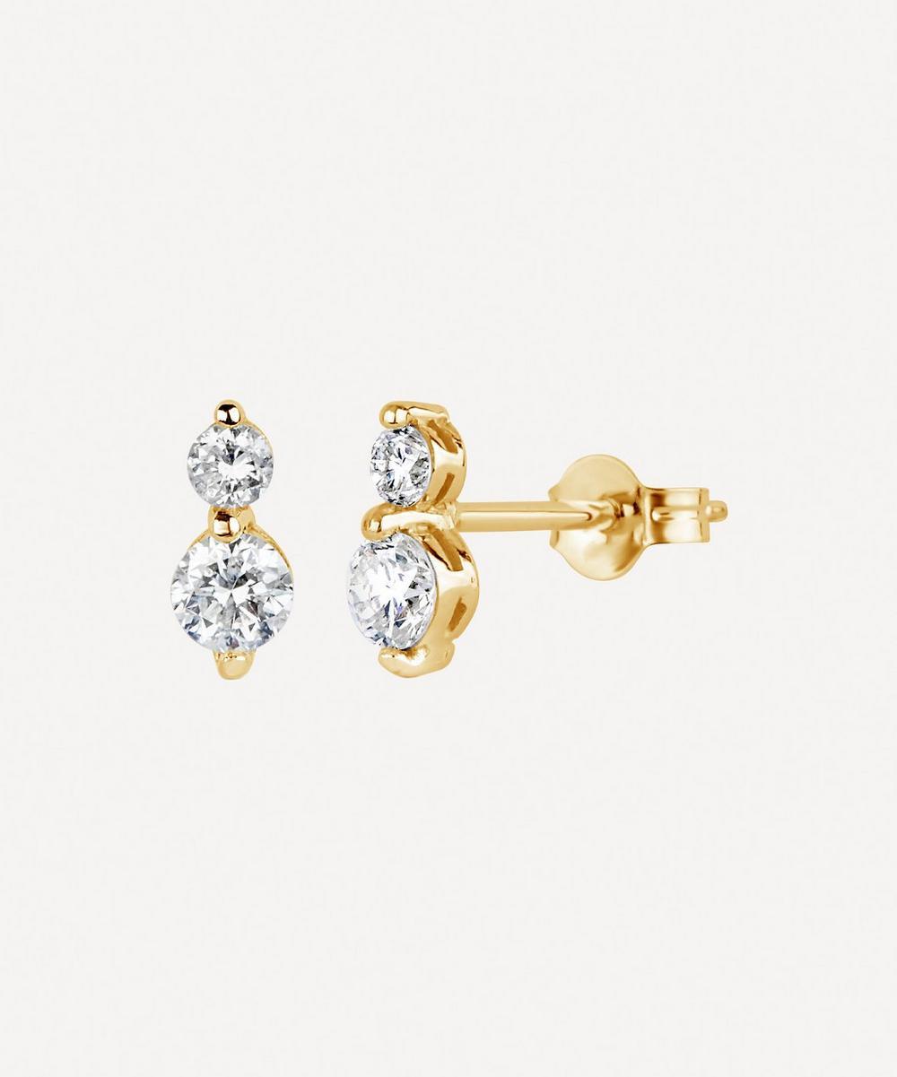 Gold Shuga Double Diamond Stud Earrings