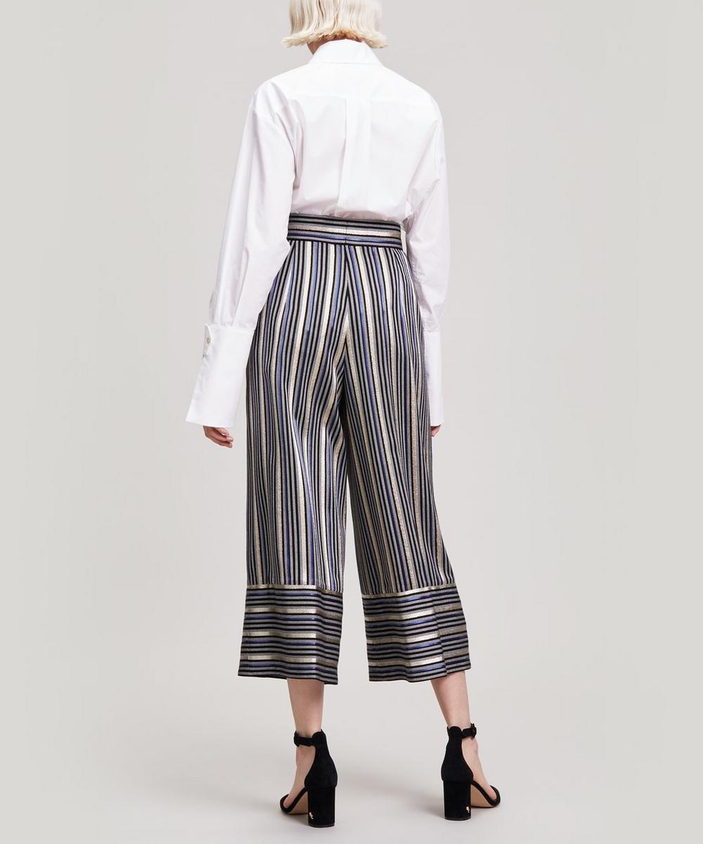 Striped Metallic Trousers