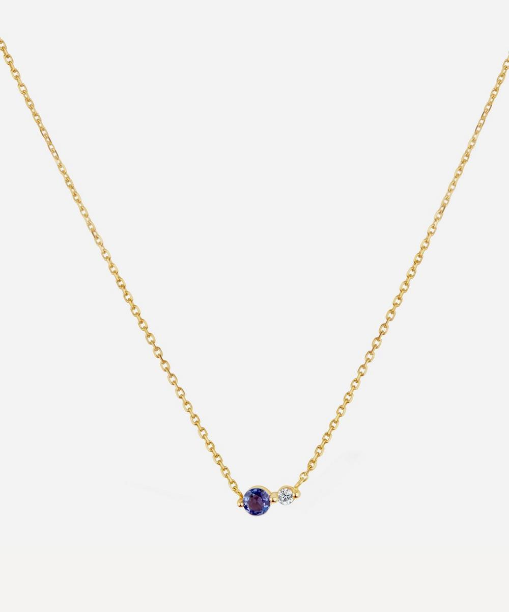 Gold Shuga Double Stone Pendant Necklace