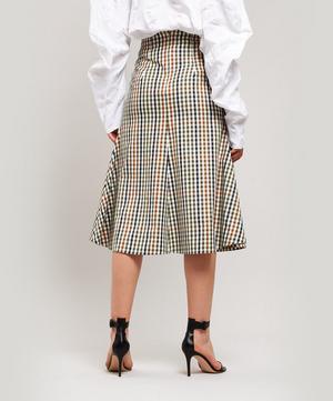 Gingham Midi-Skirt