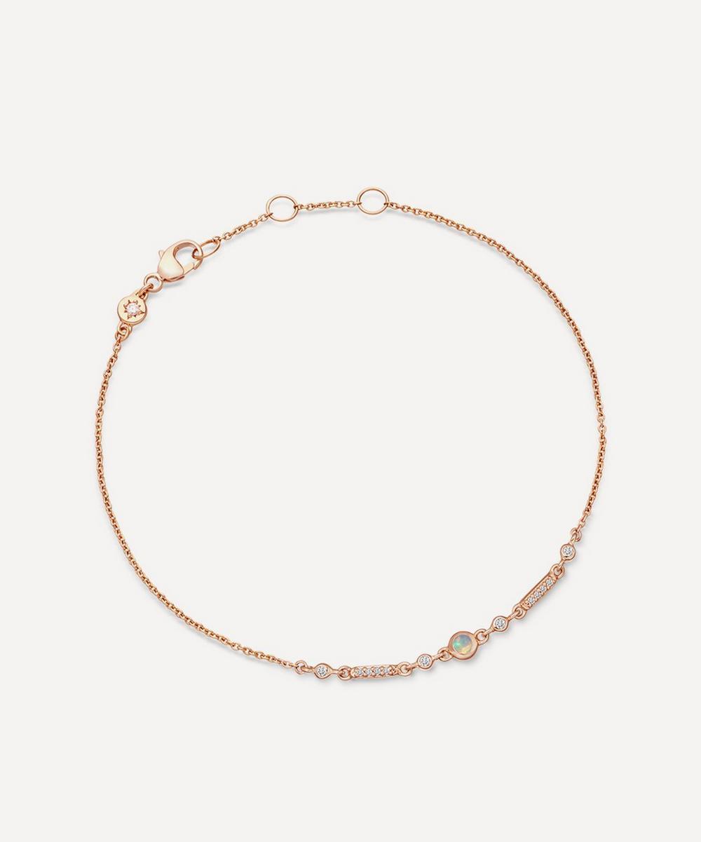 Astley Clarke - Rose Gold Icon Nova Opal Bracelet