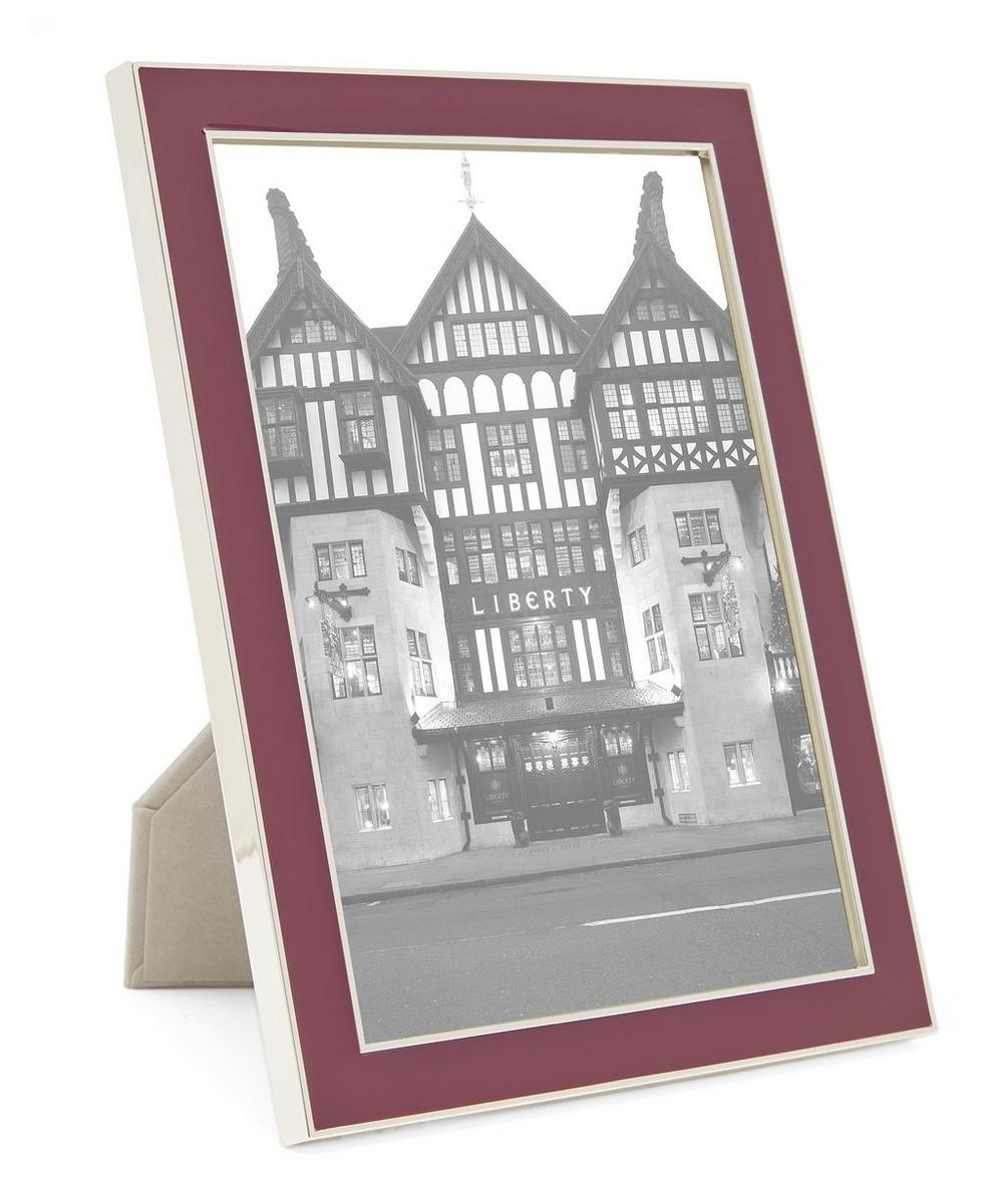 "Enamel Silver-Plated 5x7"" Photo Frame   Liberty London"