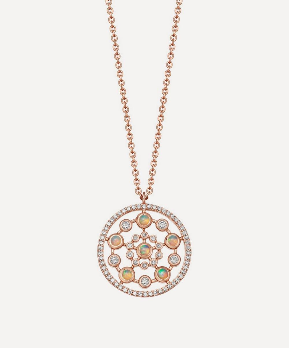 Rose Gold Icon Nova Medium Opal Pendant Necklace