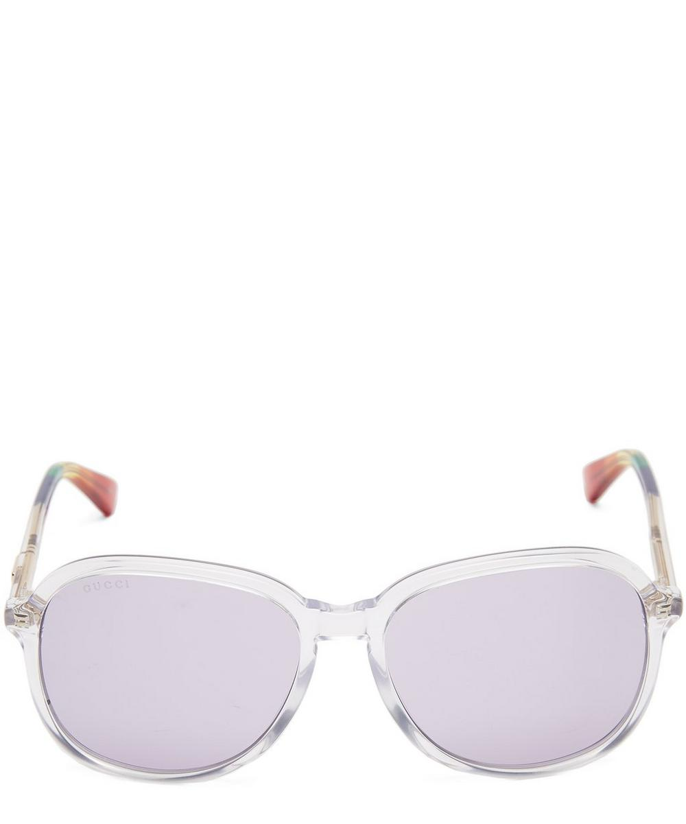 Rainbow Tip Acetate Sunglasses