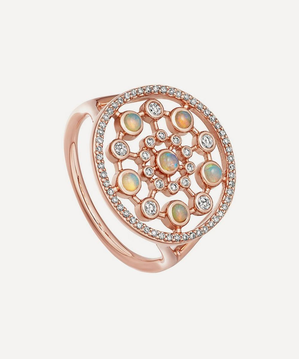 Rose Gold Icon Nova Large Opal Ring