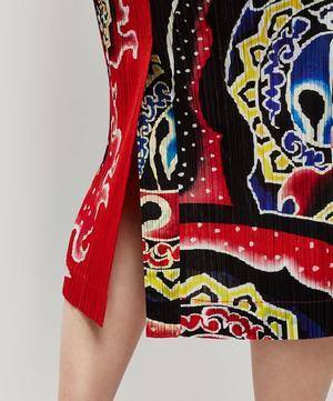Flame Tattoo Print Skirt