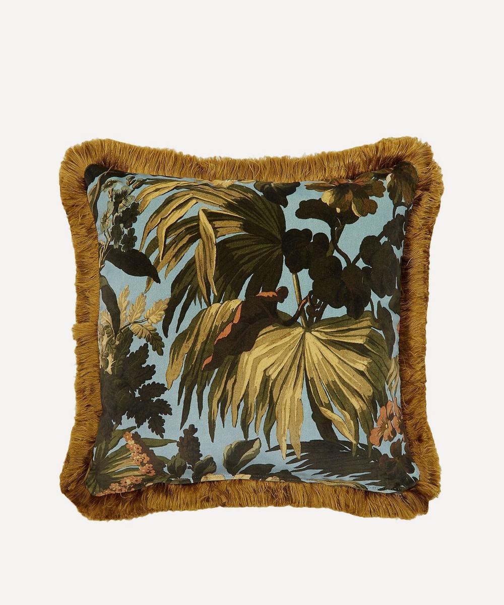 Medium Limerence Fringed Velvet Cushion