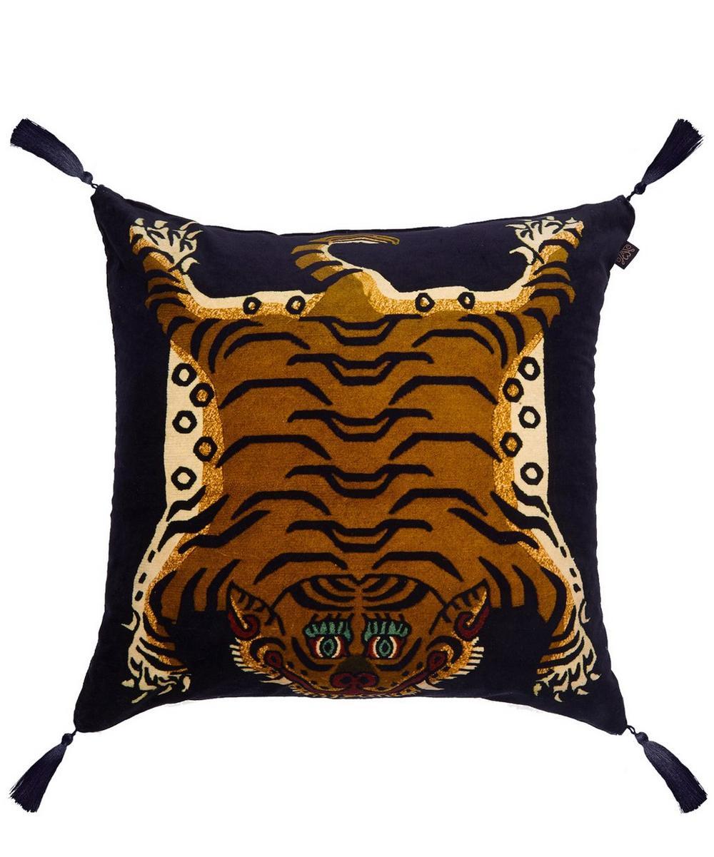 Large Saber Midnight Jacquard Cushion