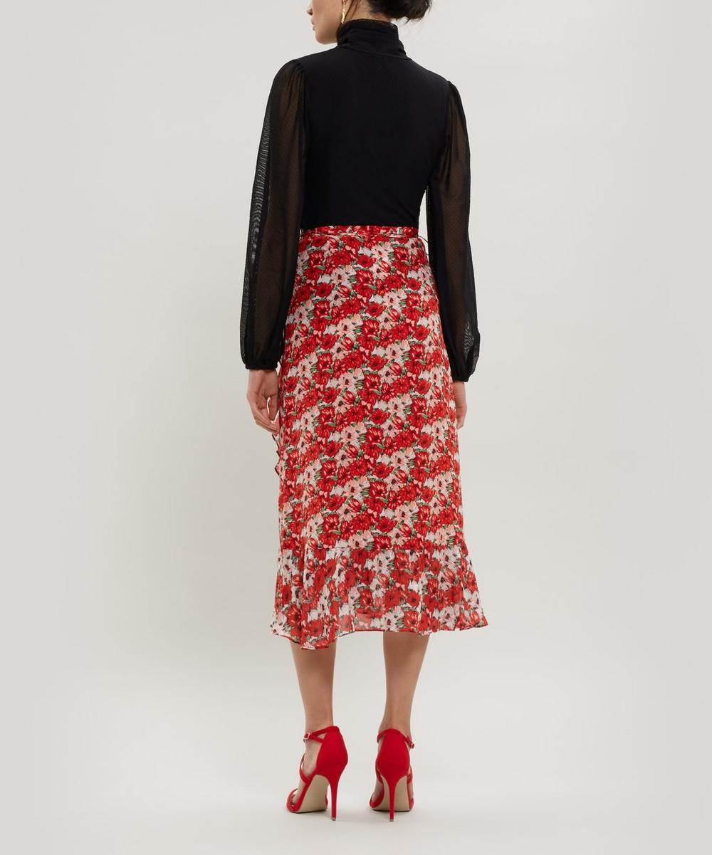 Gracie Ruffle Silk Wrap Skirt