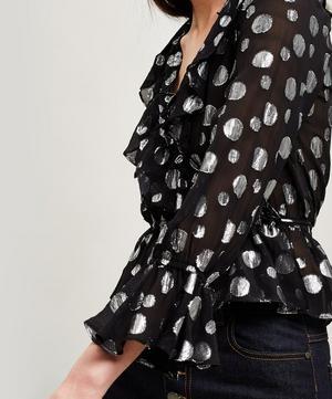 Roisin Lamé Dot Silk Top