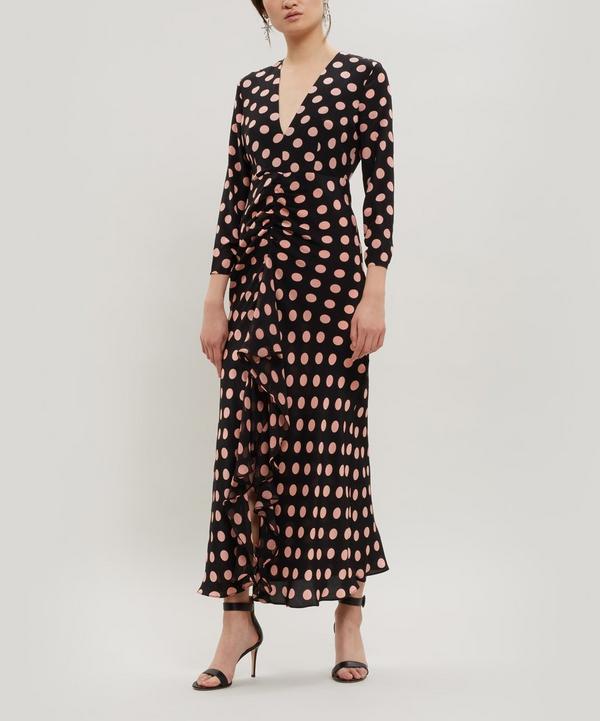 Rose Open Back Silk Maxi Dress