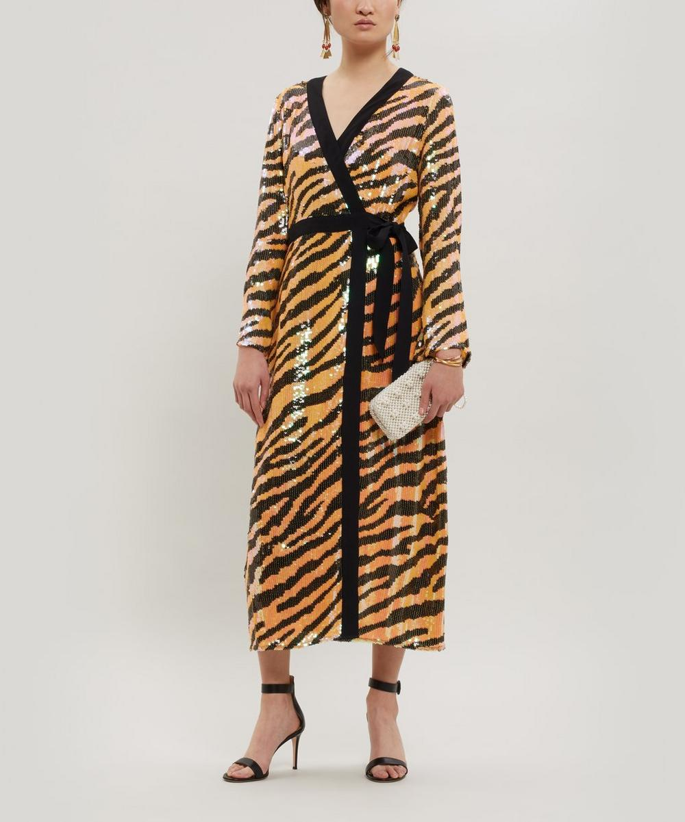 Gigi Sequin Tiger Dress