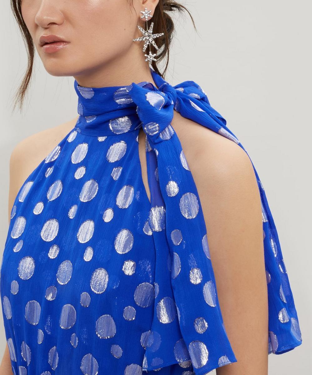 Eleanor Lamé Dot Silk Dress