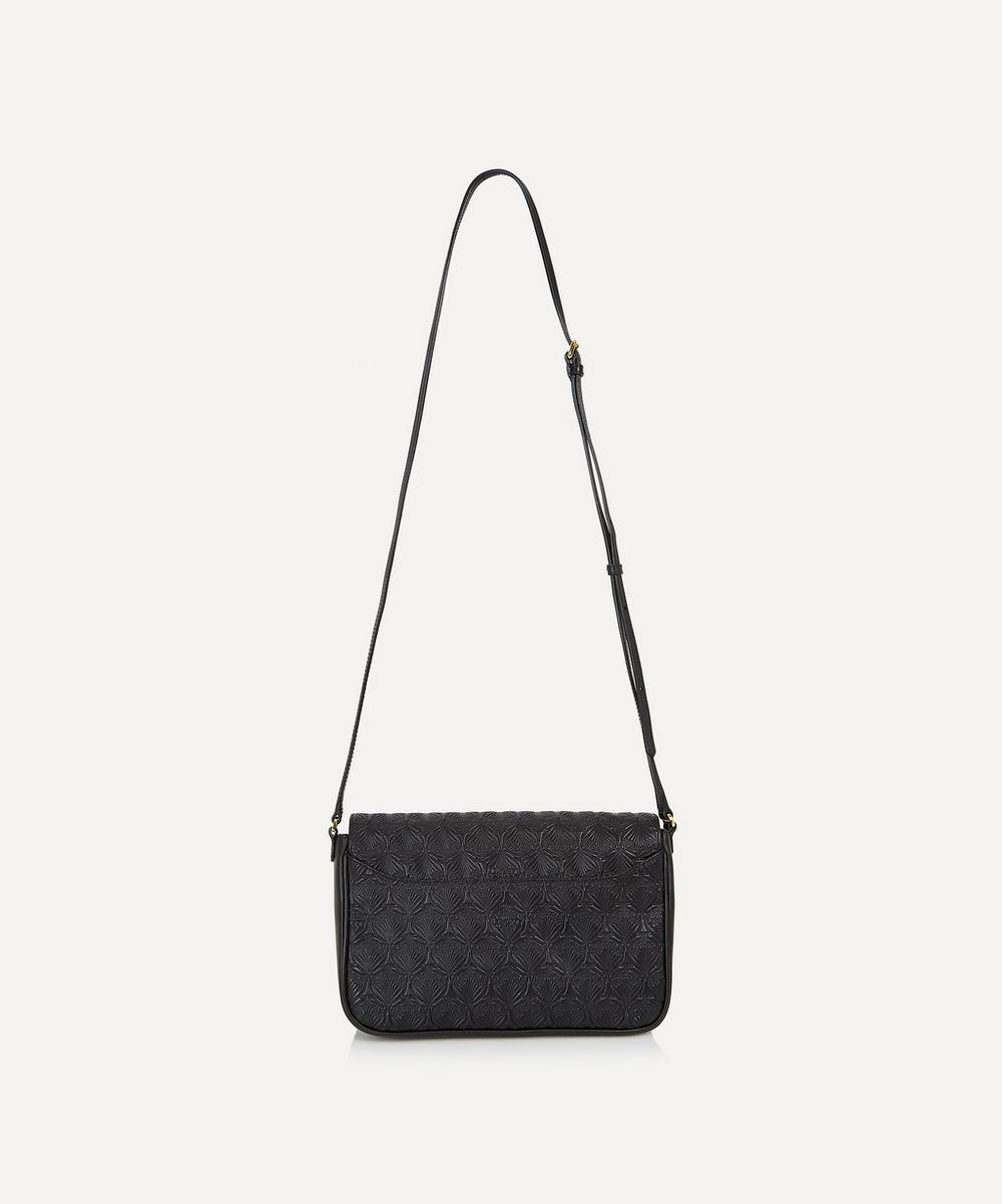 Iphis Embossed Leather Portland Cross Body Bag