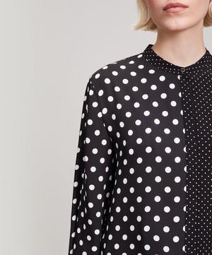 Tie Cuff Polka Dot Shirt