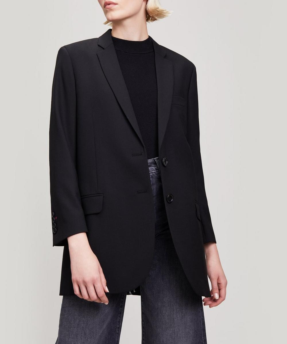 Boyfriend Fit Wool Jacket