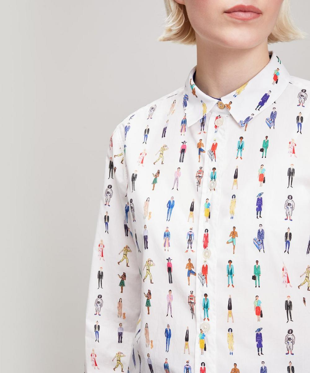 People Print Cotton Shirt