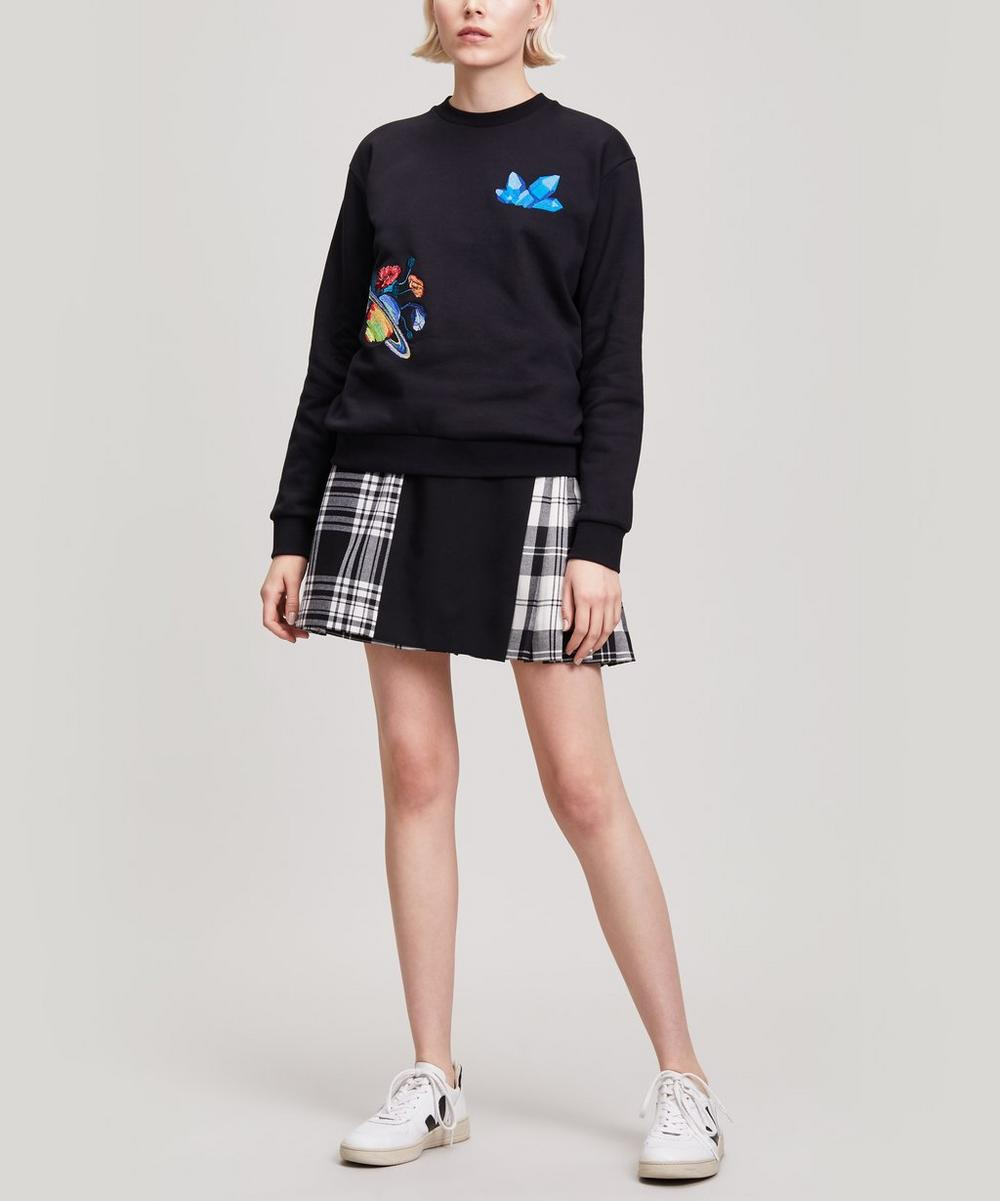 Embroidered Gem Planet Sweatshirt
