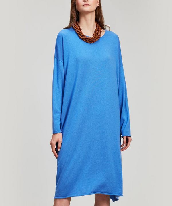 A-Line Bateau Cashmere Dress