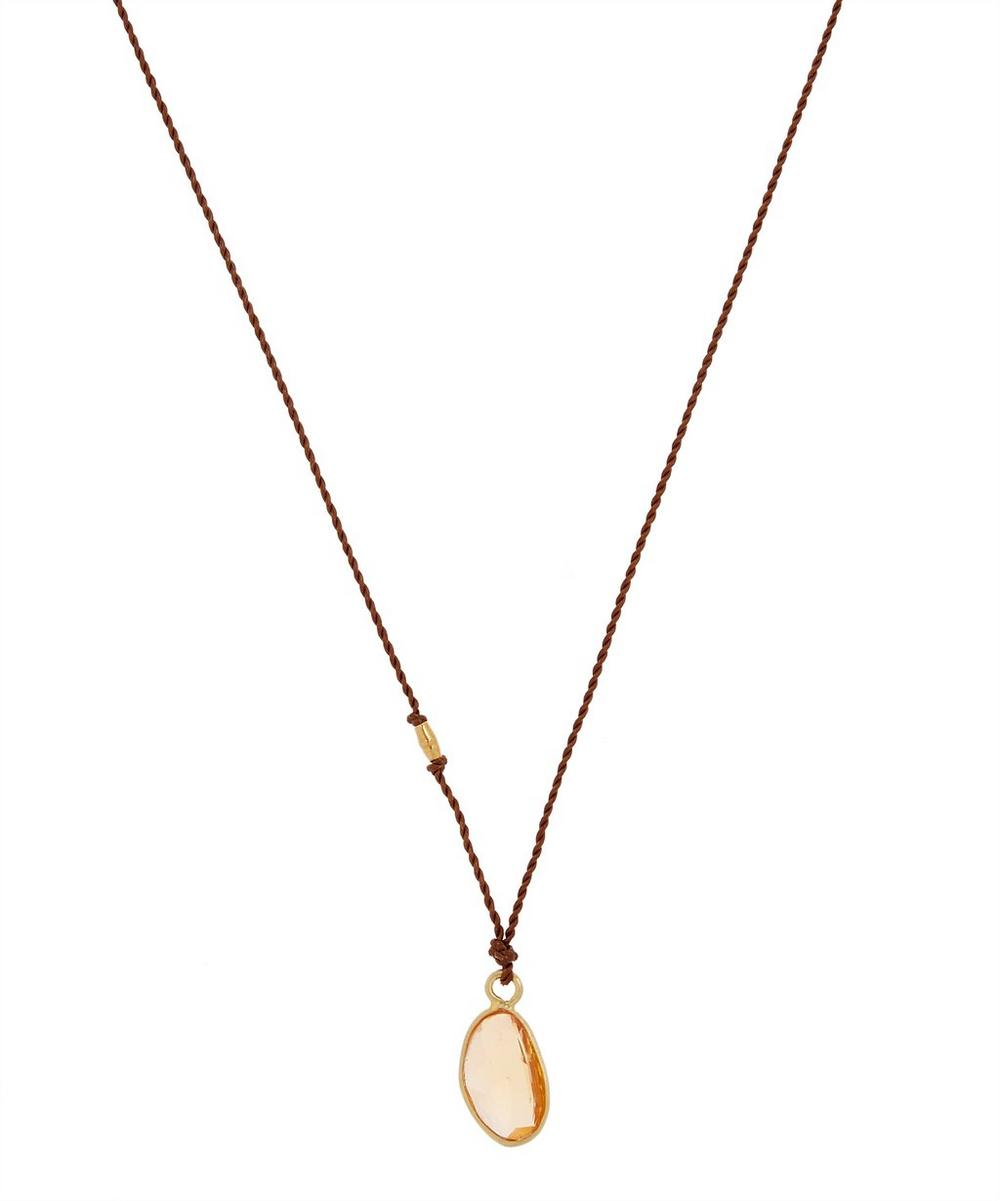 MARGARET SOLOW Gold Yellow Sapphire Cord Necklace