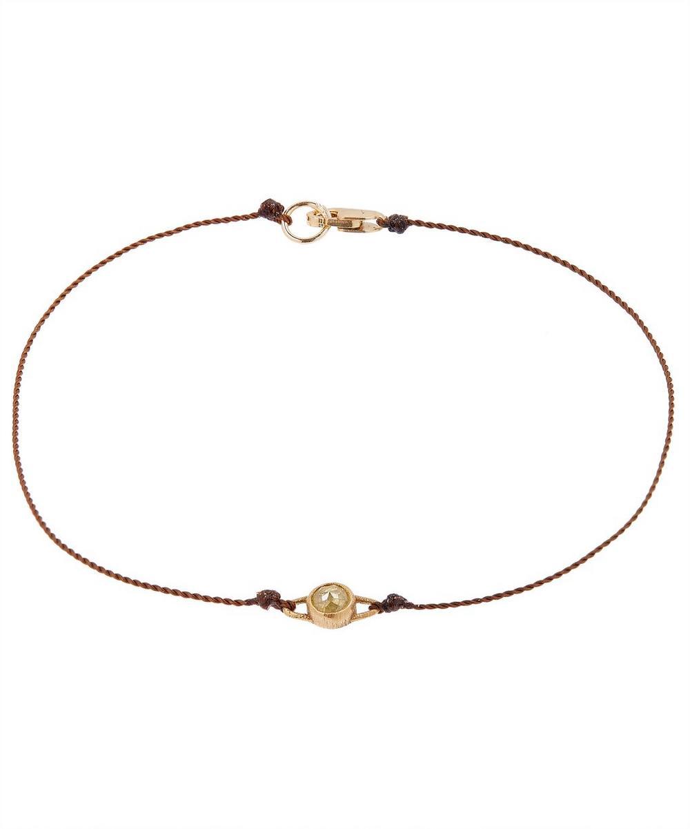 Gold Diamond Cord Bracelet