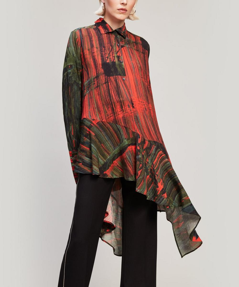 Abstract Print Spicy Shirt