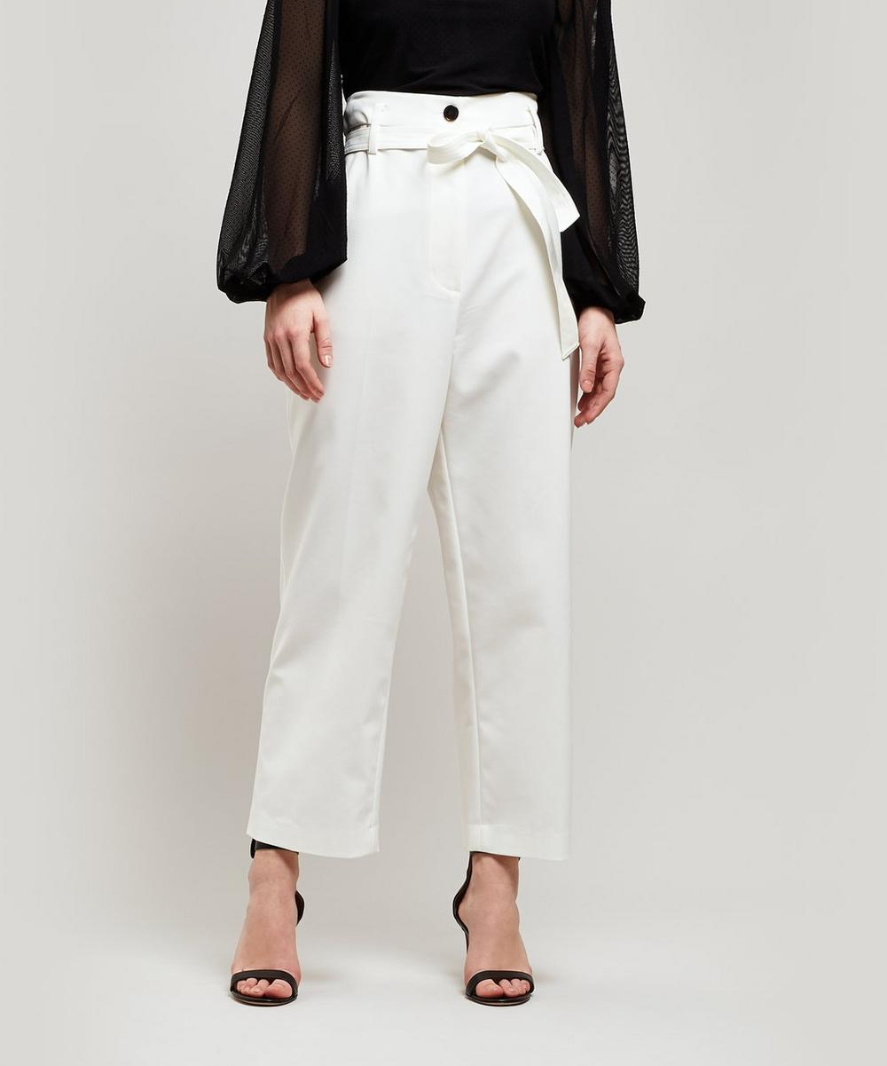 Paper Bag Waist Cropped Trousers