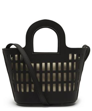 Colmado XS Leather Cut-Out Tote Bag