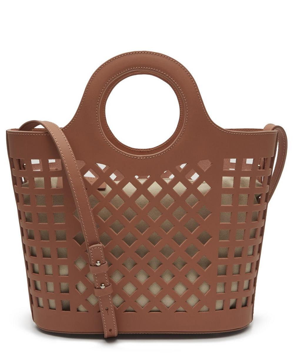Colmado Midi Leather Cut-Out Tote Bag
