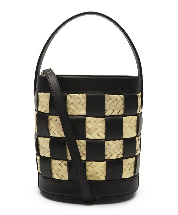 958c6bd36773 Galleda Woven Leather Bucket Bag ...