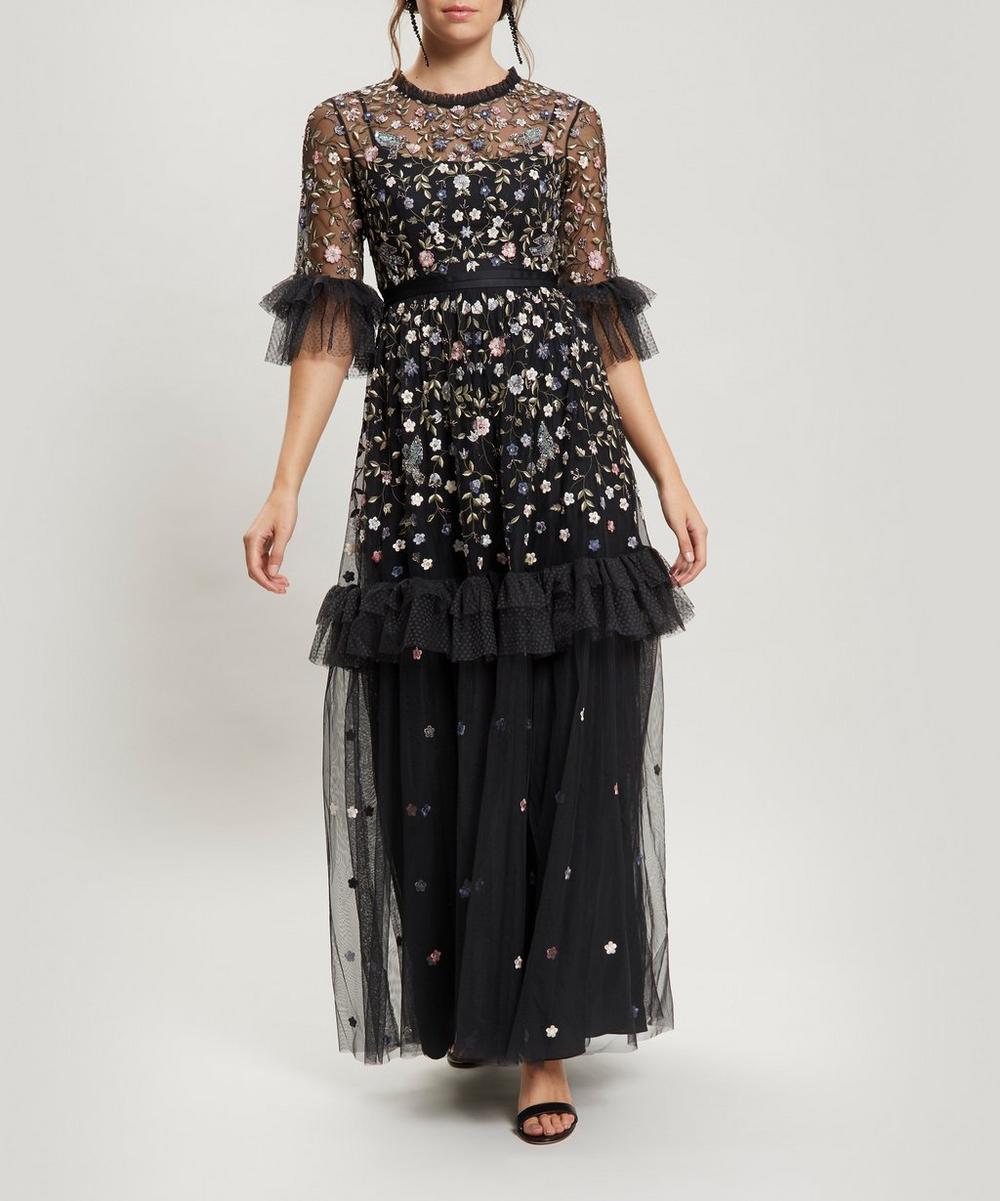 Dusk Floral Maxi-Gown