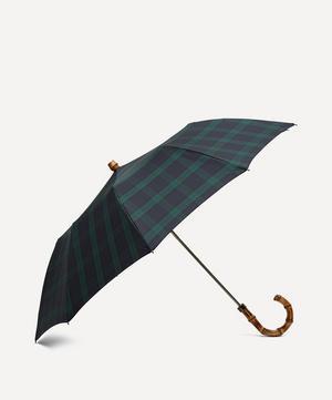 Tartan Whangee Handle Telescopic Umbrella