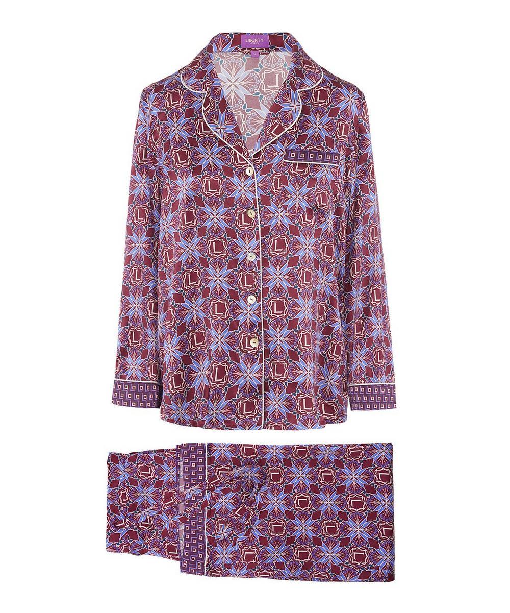 Harlequin Iphis Silk Satin Long Pyjama Set