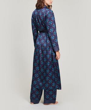 Harlequin Iphis Silk Satin Long Robe