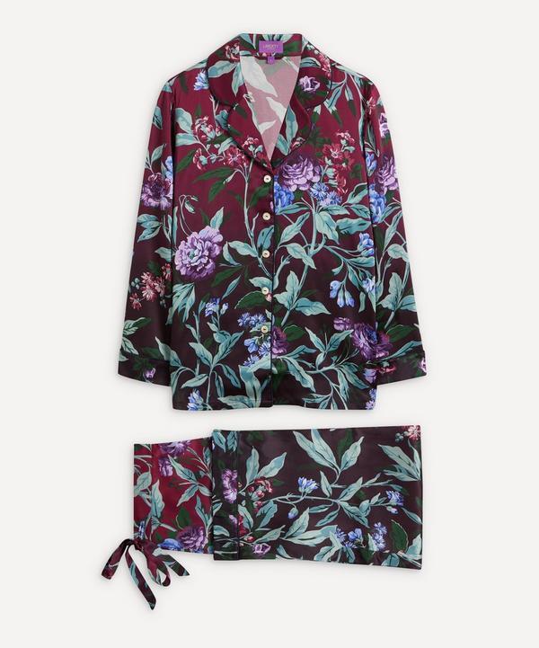 597d432a61fd Desert Rose Silk Satin Long Pyjama Set ...