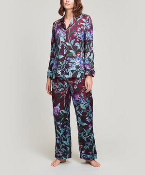 Desert Rose Silk Satin Long Pyjama Set