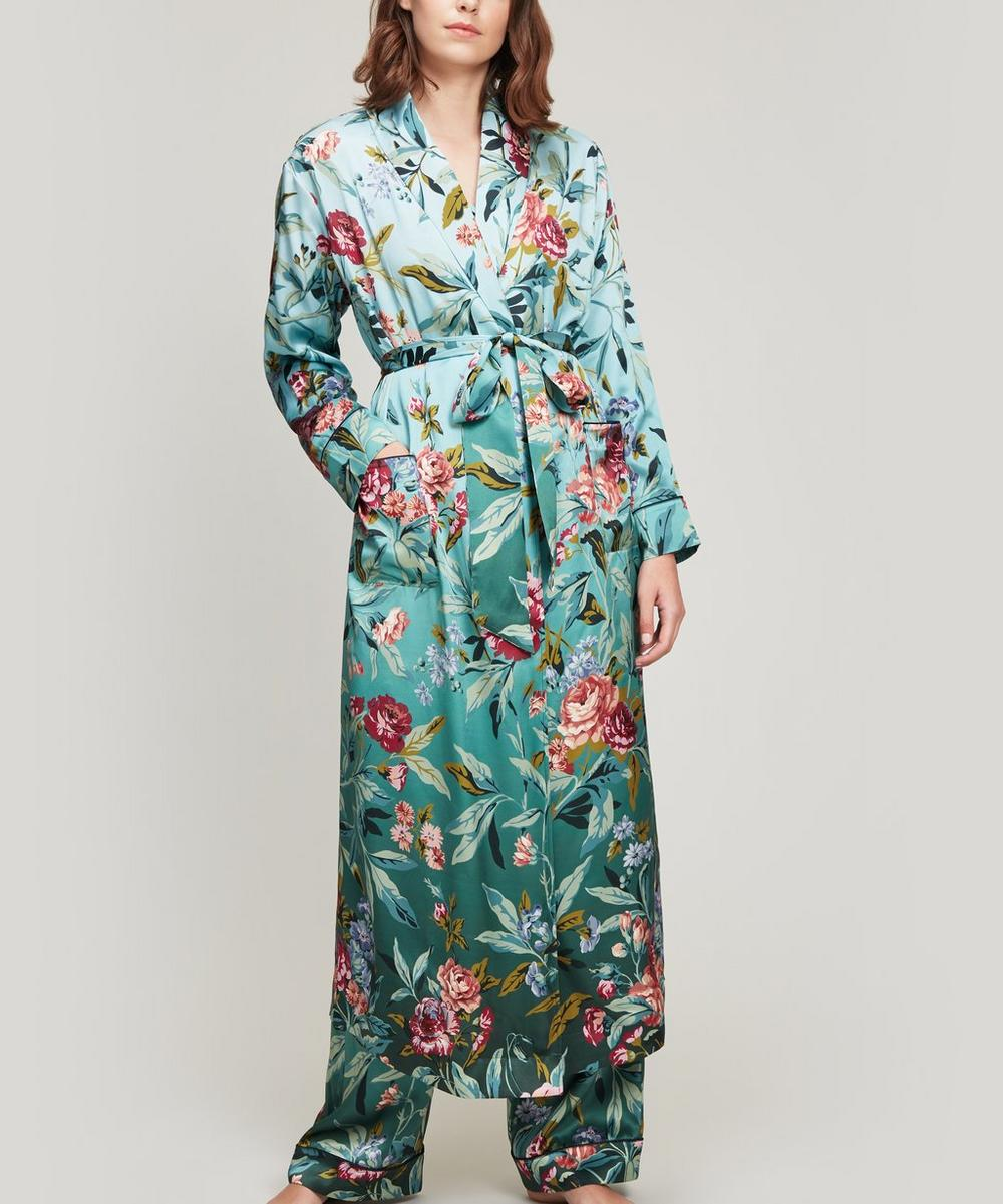 Desert Rose Silk Satin Long Robe