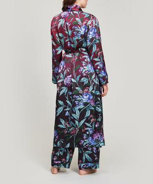Desert Rose Silk Satin Long Robe