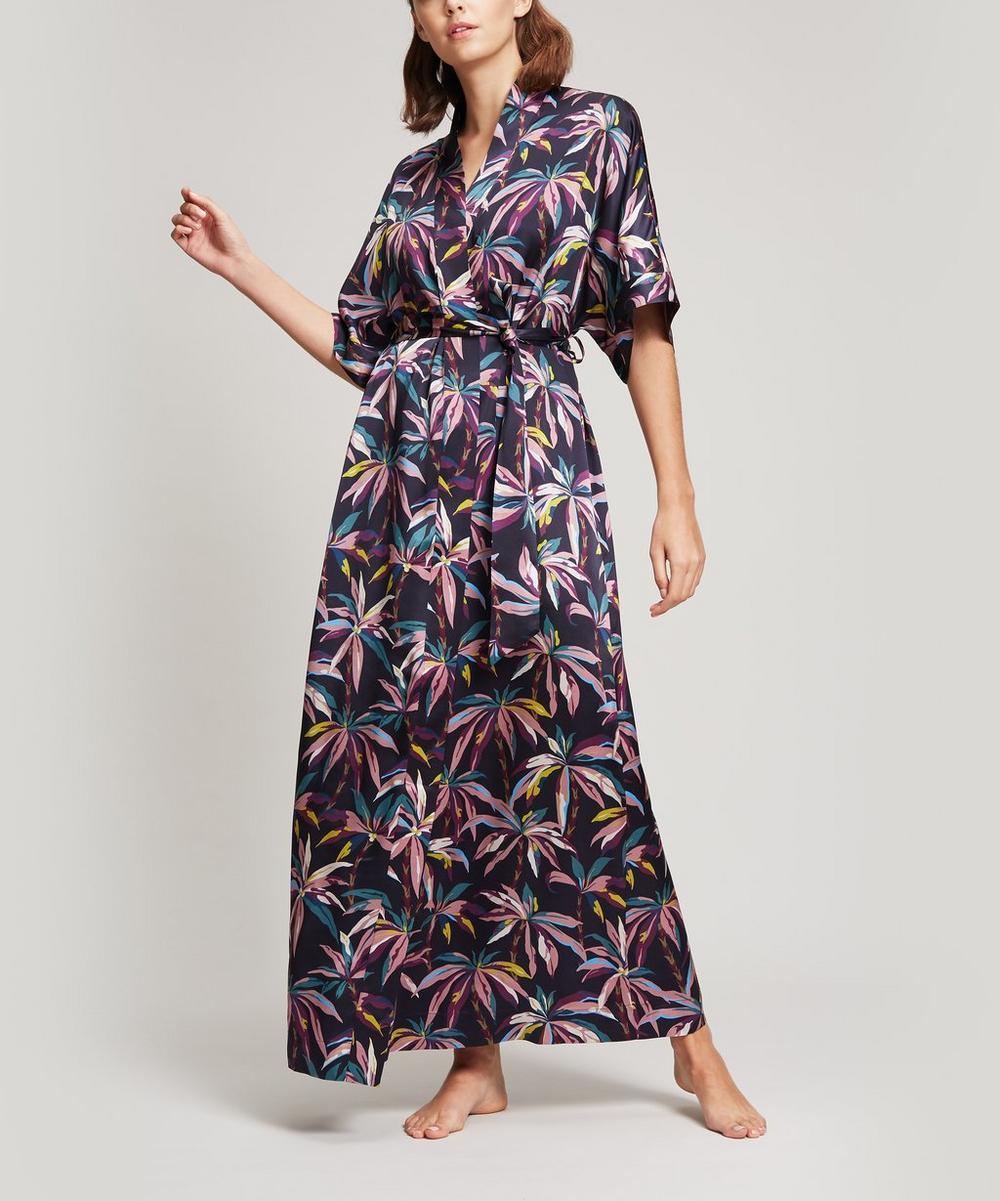 Oasis Silk Satin Long Kimono
