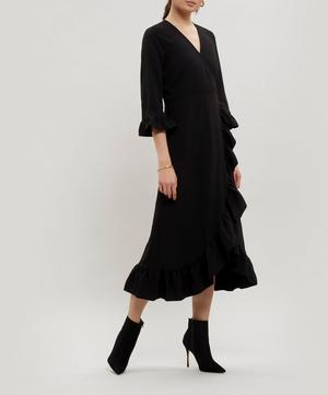 Clark Ruffle Wrap-Dress