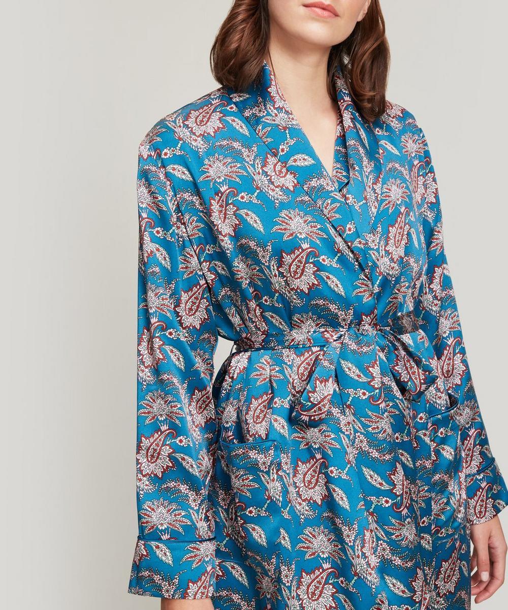 Leontine Silk Satin Long Robe