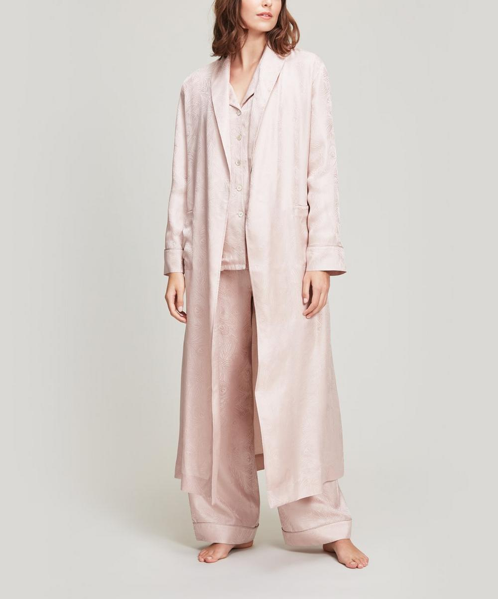 Hera Silk Jacquard Long Robe