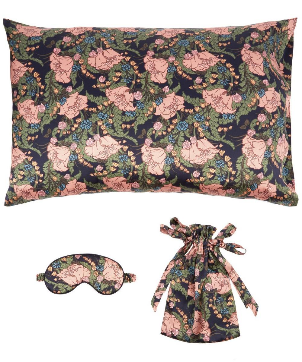 June Silk Satin Eye Mask and Pillowcase Set