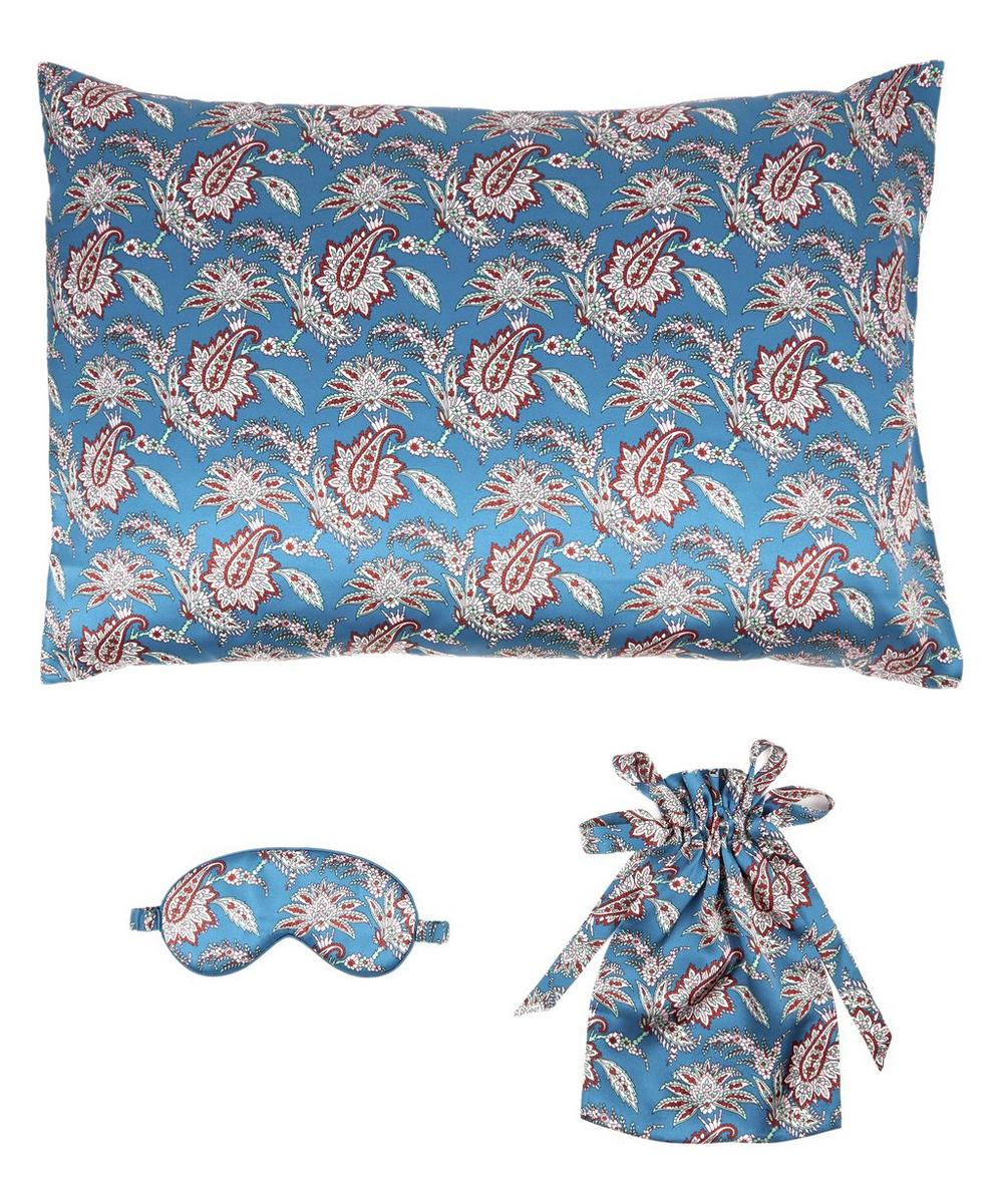 Leontine Silk Satin Eye Mask And Pillowcase Set